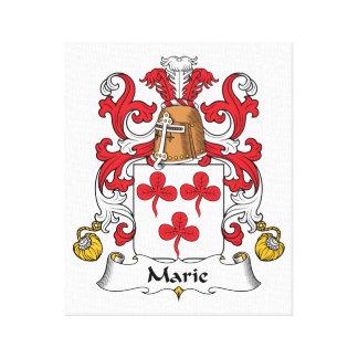 Escudo de la familia de Marie Lienzo Envuelto Para Galerías