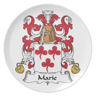 Escudo de la familia de Marie Plato