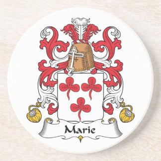 Escudo de la familia de Marie Posavasos Para Bebidas