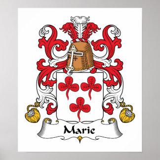 Escudo de la familia de Marie Poster