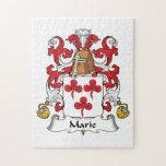 Escudo de la familia de Marie Puzzle Con Fotos
