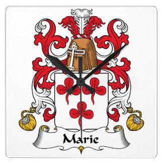 Escudo de la familia de Marie Reloj