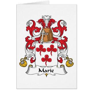 Escudo de la familia de Marie Tarjetas