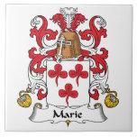 Escudo de la familia de Marie Tejas Cerámicas