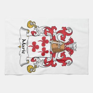 Escudo de la familia de Marie Toallas De Mano