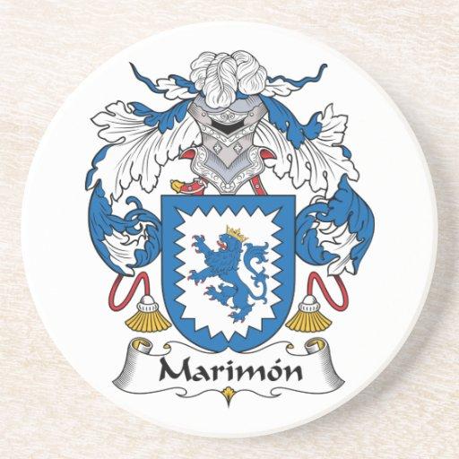 Escudo de la familia de Marimon Posavasos Diseño