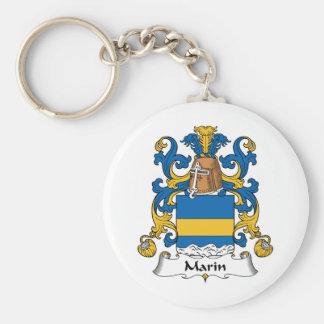 Escudo de la familia de Marin Llaveros Personalizados