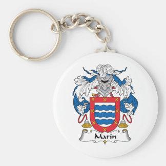 Escudo de la familia de Marin Llavero Personalizado
