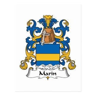 Escudo de la familia de Marin Postales