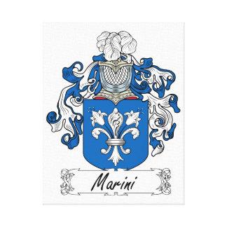 Escudo de la familia de Marini Impresion De Lienzo