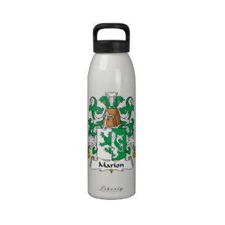 Escudo de la familia de Marion Botellas De Agua Reutilizables