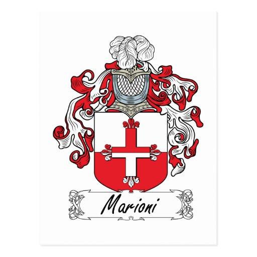 Escudo de la familia de Marioni Postales