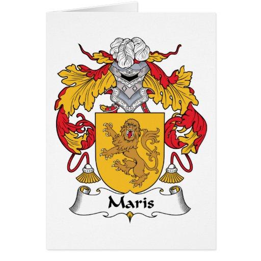 Escudo de la familia de Maris Tarjeta De Felicitación
