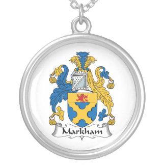 Escudo de la familia de Markham Pendiente Personalizado