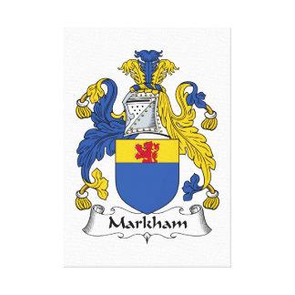 Escudo de la familia de Markham Impresiones En Lona