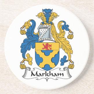 Escudo de la familia de Markham Posavasos Manualidades