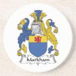 Escudo de la familia de Markham Posavasos Cerveza
