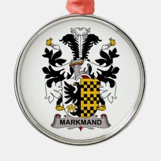 Escudo de la familia de Markmand Ornamento Para Arbol De Navidad