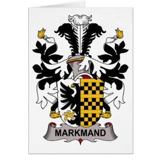 Escudo de la familia de Markmand Tarjeta De Felicitación