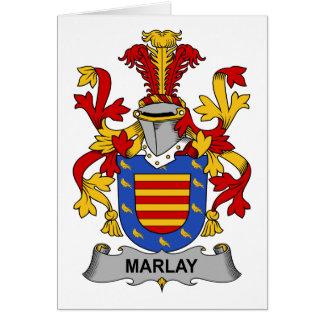 Escudo de la familia de Marlay Tarjeta De Felicitación