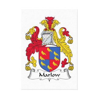 Escudo de la familia de Marlow Lona Envuelta Para Galerias