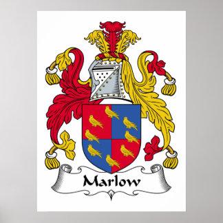Escudo de la familia de Marlow Impresiones