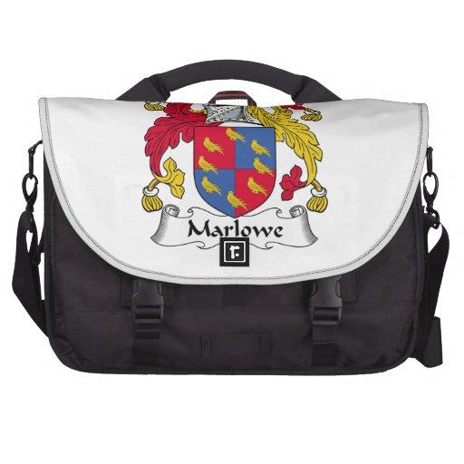 Escudo de la familia de Marlowe Bolsas Para Portatil