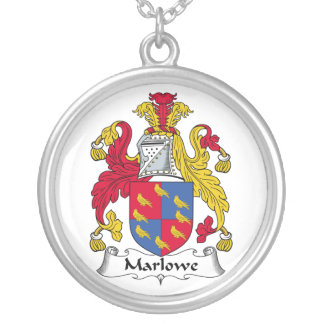 Escudo de la familia de Marlowe Colgante Redondo