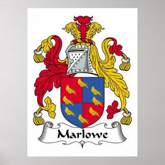 Escudo de la familia de Marlowe Poster