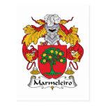 Escudo de la familia de Marmeleiro Tarjeta Postal