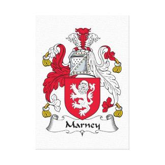 Escudo de la familia de Marney Lienzo Envuelto Para Galerías