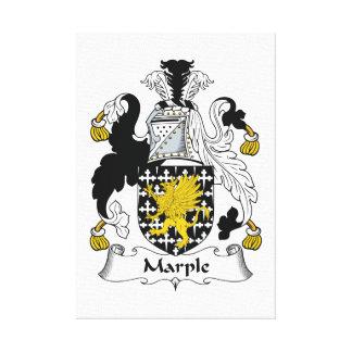 Escudo de la familia de Marple Lona Envuelta Para Galerias