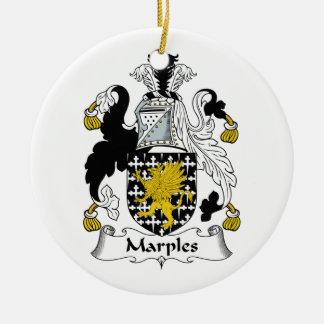Escudo de la familia de Marples Adorno Redondo De Cerámica