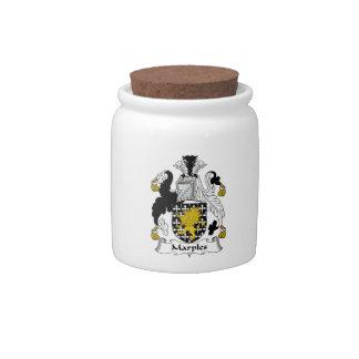 Escudo de la familia de Marples Jarras Para Caramelos