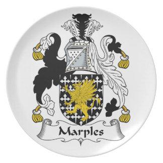 Escudo de la familia de Marples Platos