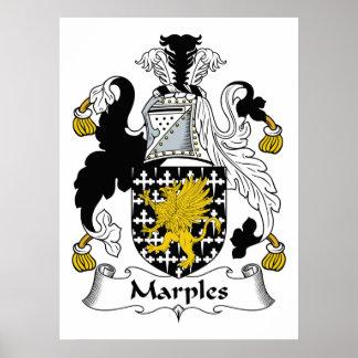 Escudo de la familia de Marples Poster