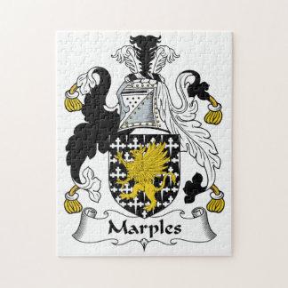 Escudo de la familia de Marples Rompecabezas Con Fotos