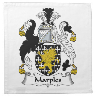 Escudo de la familia de Marples Servilleta