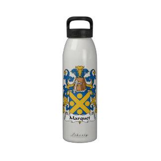 Escudo de la familia de Marquet Botella De Agua Reutilizable