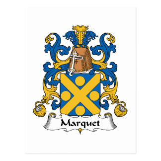 Escudo de la familia de Marquet Postales