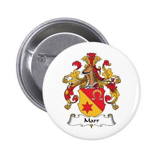 Escudo de la familia de Marr Pin Redondo 5 Cm