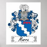 Escudo de la familia de Marra Poster