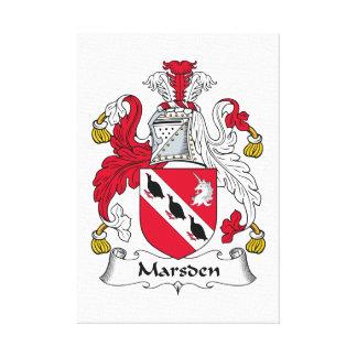 Escudo de la familia de Marsden Impresión En Lienzo Estirada