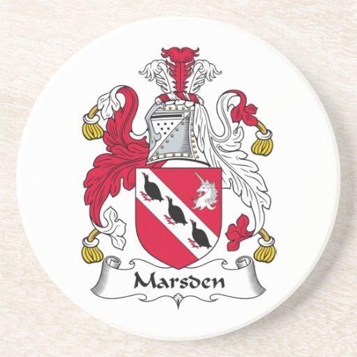 Escudo de la familia de Marsden Posavasos Para Bebidas