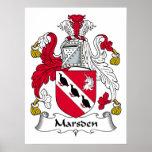 Escudo de la familia de Marsden Posters