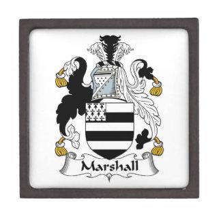 Escudo de la familia de Marshall Cajas De Joyas De Calidad