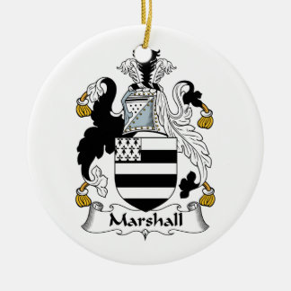 Escudo de la familia de Marshall Adorno Redondo De Cerámica