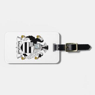 Escudo de la familia de Marshall Etiqueta Para Equipaje