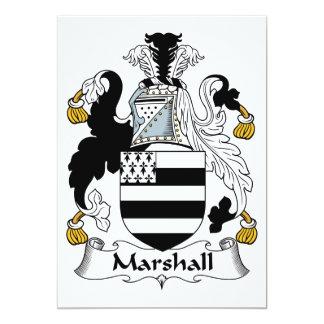 """Escudo de la familia de Marshall Invitación 5"""" X 7"""""""