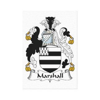 Escudo de la familia de Marshall Impresion De Lienzo